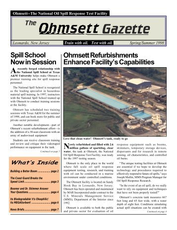 Final Spring 1998 Newsletter with post printing correction - Ohmsett