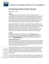 Job Opening: Interim Executive Director - Home of the League of ...