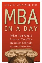 MBA In A Day: What You Would Learn At Top-Tier Business Schools ...