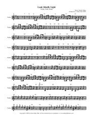Violin part only - Free Choral Music: J. Ashley Hall