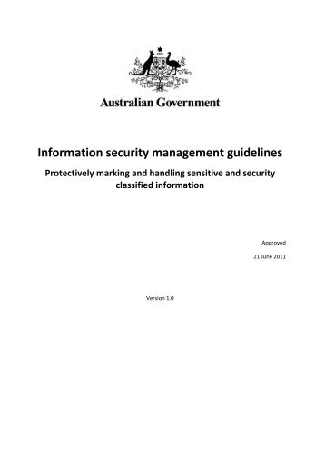 Protectively marking sensitive and security classified information