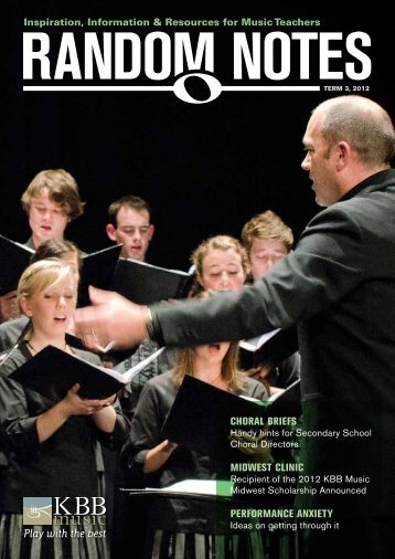 choral briefs midwest clinic performance anxiety - KBB Music
