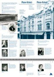 In bester Tradition: das Gebr. Schulz Klavier Preisliste - Piano-Schulz