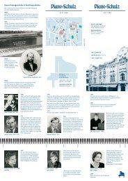 In bester Tradition: das Gebr. Schulz Klavier - Piano-Schulz