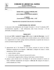 IL RESPONSABILE DEL SERVIZIO - Comune di Limone sul Garda