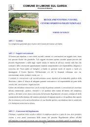 Centro Polisportivo - Comune di Limone sul Garda