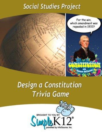Design A Constitution Trivia Game