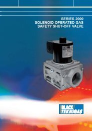 series 2000 solenoid operated gas safety shut-off ... - Black Teknigas