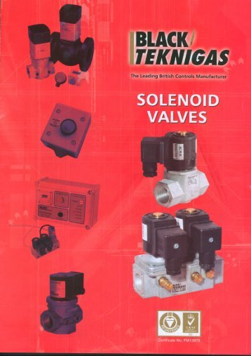 Tekni Solenoid Gas Safety Shut Off Valves - Black Teknigas