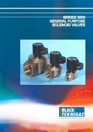 series 3000 general purpose solenoid valves - Black Teknigas