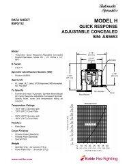 Model HC Adjustable Concealed Sprinkler - NNI, Inc.