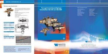 Terugstroombeveiligings- toestellen BA BS en ... - WATTS industries