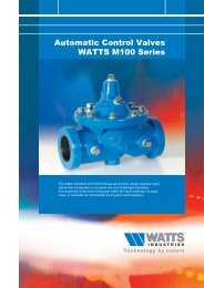 Automatic Control Valves WATTS M100 Series - WATTS industries