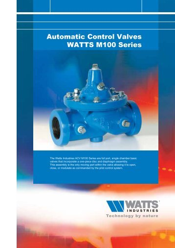 Automatic Control Valves WATTS M100 Series - WATTS industries
