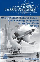 One Hundred Years of Flight USAF Chronology ... - The Air University