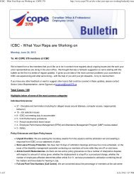 ICBC PENSION PLAN FOR MANAGEMENT AND     - COPE 378