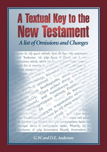 A Textual Key to the New Testament (A100) [pdf] - Trinitarian Bible ...