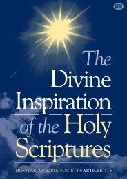 Article 116 Divine Inspiration - Trinitarian Bible Society