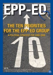 THE TEN PRIORITIES FOR THE EPP-ED GROUP - Alain Lamassoure