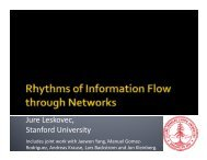 Rhythms of Information Flow through Networks