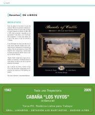 [Reseñas] dE libRos - Asociación Argentina de Angus