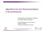 slides - Science of Networks in Communities - Northwestern University