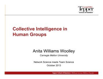 4. Anita Wooley: Collective Intelligence in Human Groups