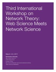 Third International Workshop on Network Theory - Science of ...
