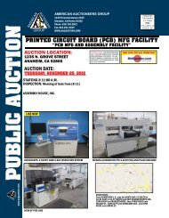 printed circuit board (pcb) mfg facility - American Auctioneers Group