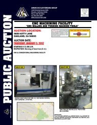 cnc milling and turning machine tools - American Auctioneers Group