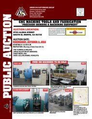cnc machine tools and fabrication - American Auctioneers Group