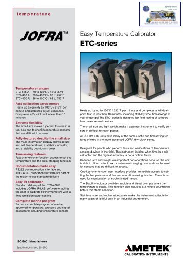 ETC-series - Instrumetrics Engineering Ltd.