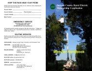 member handbook - 2009 - Jackson County REMC