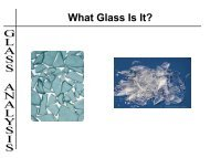 What Glass Is It? - Worcester Think Tank