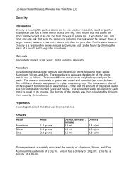 Lab Report Template - Worcester Think Tank