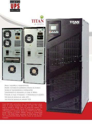 files/UPS TITAN 6-10KVA(1).pdf - La Casa de la UPS