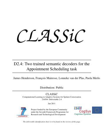 Two trained semantic decoders for the Appointment ... - classic project