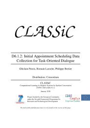 D6.1.2: Initial Appointment Scheduling Data ... - CLASSiC Project