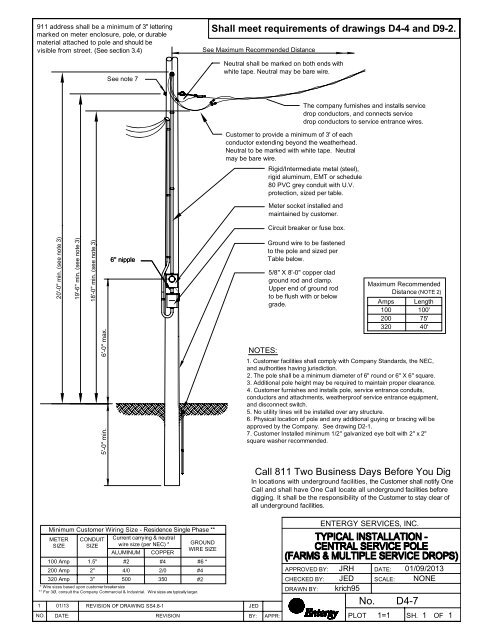 Overhead Central Service Pole - Entergy New Orleans, Inc