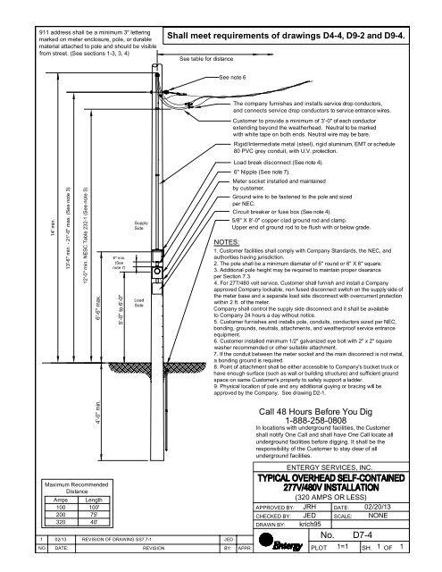 277/480 Volt Service on pole - Entergy New Orleans, Inc