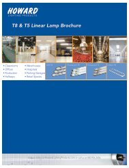 T8 & T5 Linear Lamp Brochure - Howard Industries, Inc.