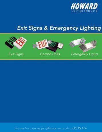 Exit Signs & Emergency Lighting - Howard Lighting