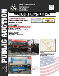 amada sheet metal fab facility - American Auctioneers Group