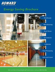 Howard Lighting Product Guide - Howard Industries, Inc.