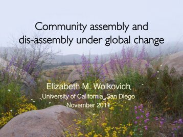 Community assembly and dis-assembly under global change