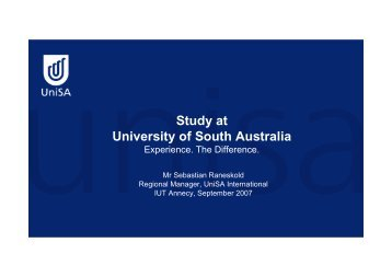 Study at University of South Australia - IUT Annecy
