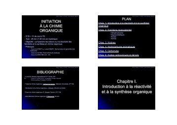 Cours Module Complémentaire de Chimie Organique - IUT Annecy
