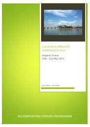 Accompanying Persons Program - Conference on Calcium ...