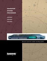 Navigator brochure temp.qxd - BeL AQUSTIC