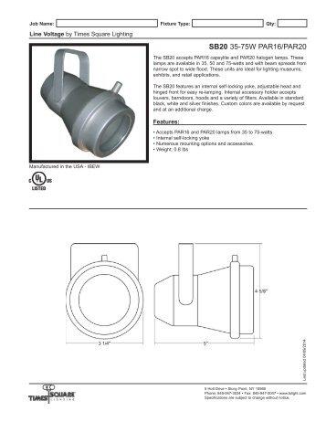 SB20 Spec Sheet - Times Square Lighting  sc 1 st  Yumpu & MR16 Spec Sheet - Times Square Lighting azcodes.com